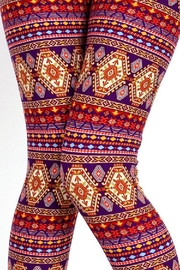 New Mix Tribal3 Multicolor Legging - Back cropped