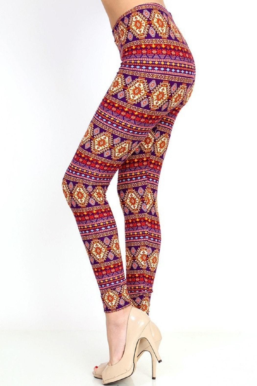 New Mix Tribal3 Multicolor Legging - Front Full Image