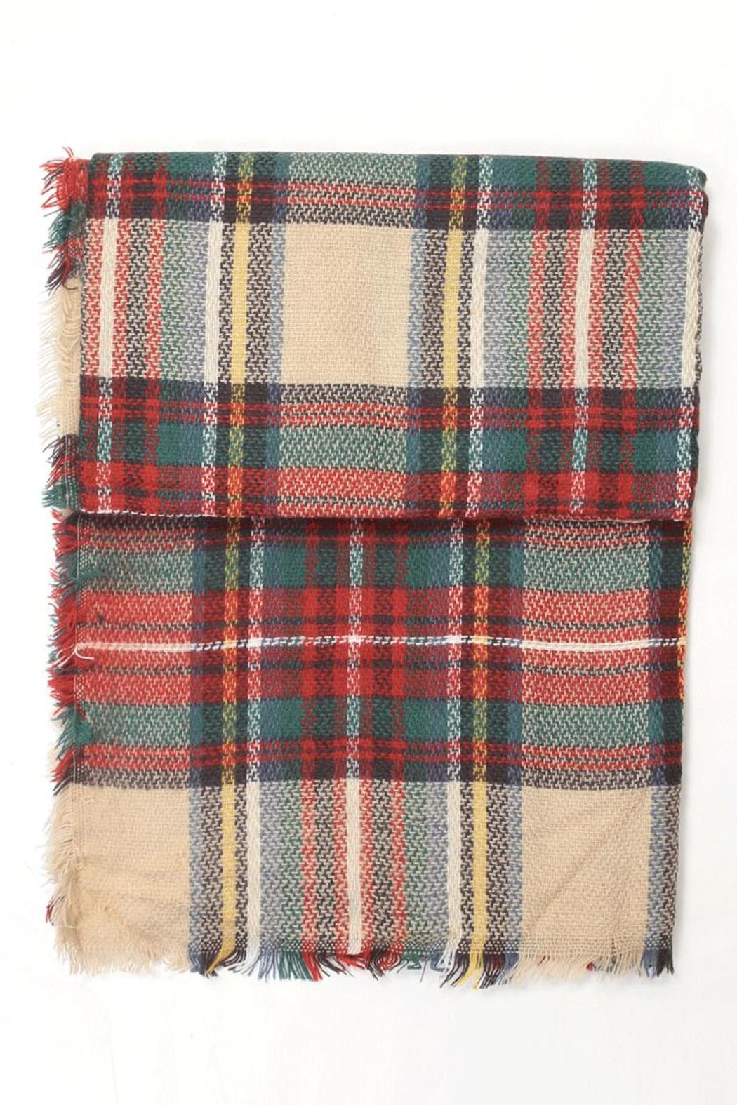 New Prospects Tartan Plaid Scarf - Front Cropped Image