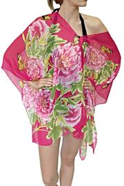 New York Collection Pink Peony Top - Product Mini Image