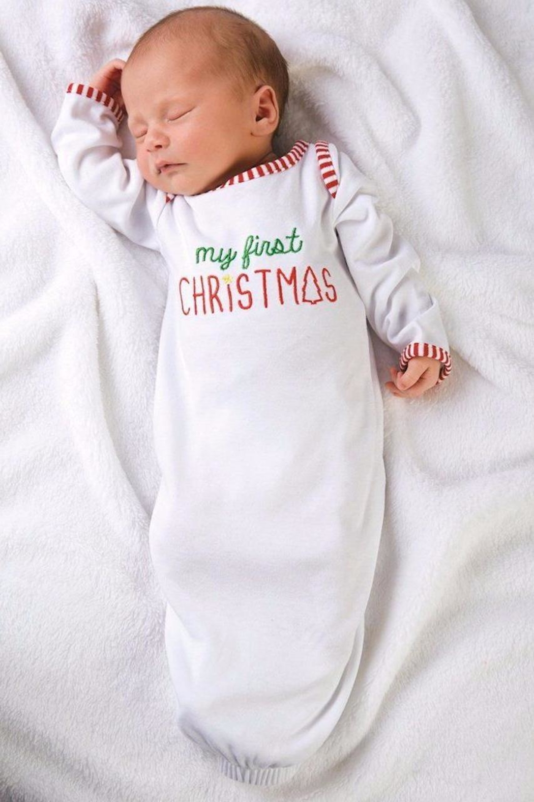 Mud Pie Newborn Christmas Gown - Main Image