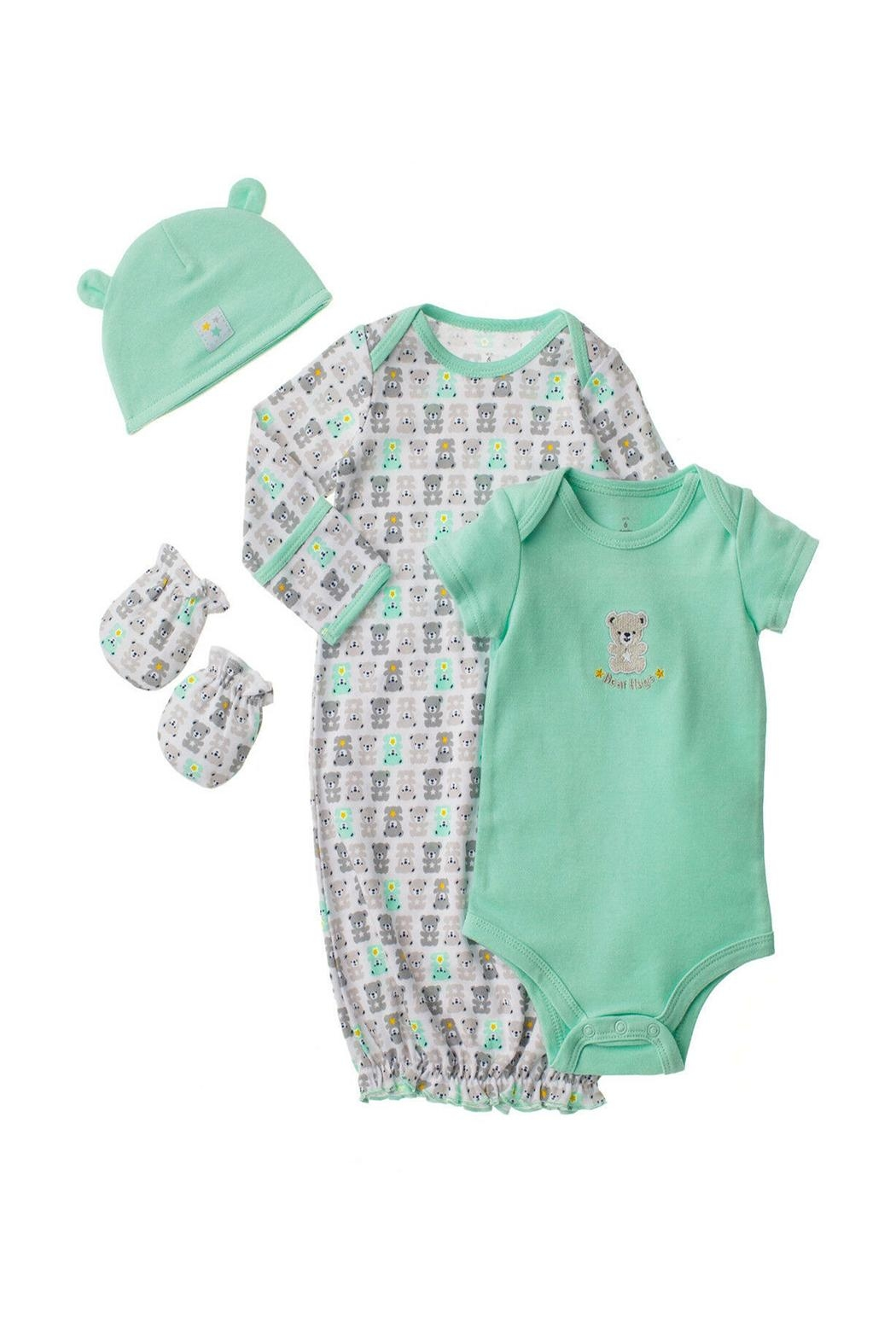 Baby Starters Newborn Gown Set - Front Cropped Image