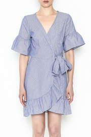 Newbury Kustom Ruffle Wrap Dress - Front full body