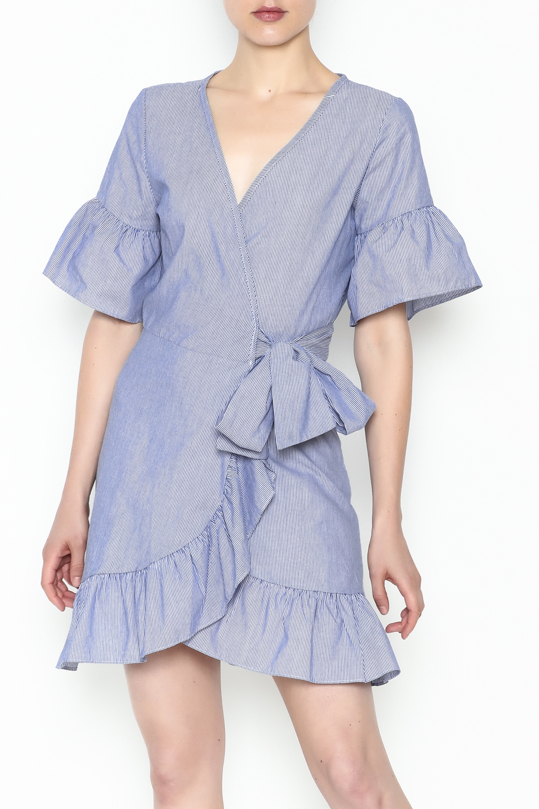 Newbury Kustom Ruffle Wrap Dress - Main Image