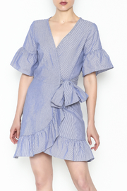 Newbury Kustom Ruffle Wrap Dress - Front cropped