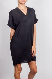 Newbury Kustom Drape-Linen Chic-Mini-Dress Tunic - Product Mini Image