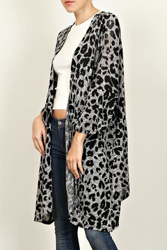 Newbury Kustom Leopard Print Cardigan - Alternate List Image