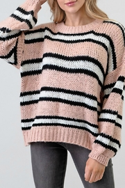 Newbury Kustom Pink Stripe Sweater - Product Mini Image