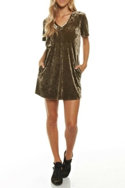 Newbury Kustom Velvet Shirt Dress - Product Mini Image
