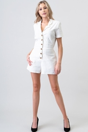 Newbury Kustom White Button-Up Romper - Product Mini Image