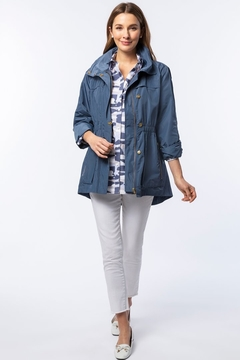 Shoptiques Product: Newport Rain Slicker, Cadet Blue