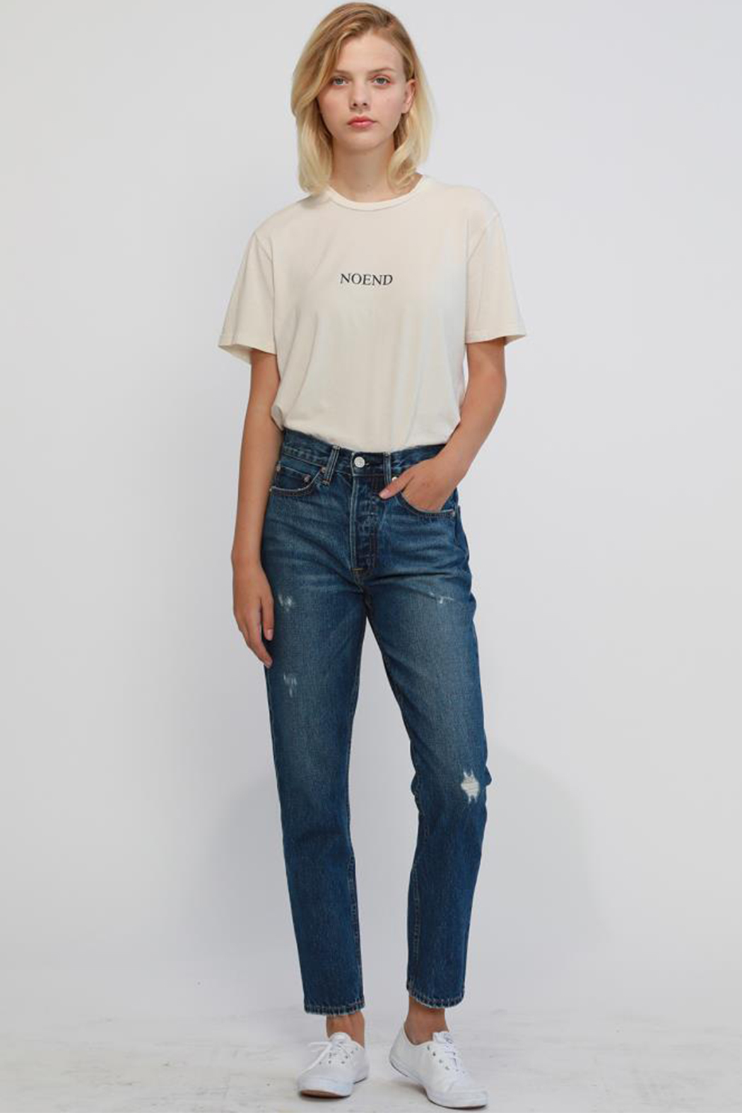 NOEND Newport Slim Straight Crop - Front Full Image