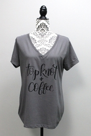 Next Level Topknot&Coffee V-Neck Shirt - Front cropped