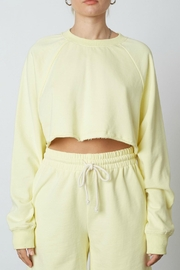 NIA Cropped Raglan Sweatshirt - Product Mini Image