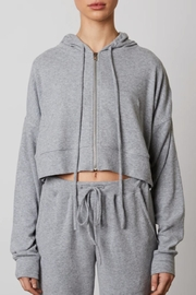 NIA Cropped Zip Up Hoodie - Product Mini Image