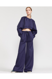 Cynthia Rowley Niall Wide Leg Bonded Sweatpant - Product Mini Image