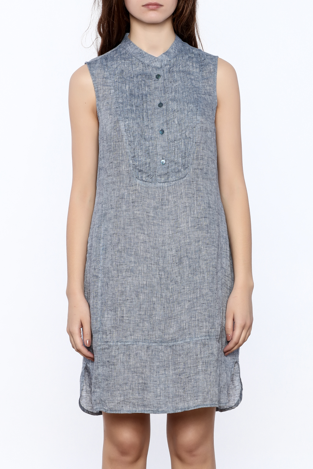 Nic + Zoe Sleeveless Linen Dress - Side Cropped Image
