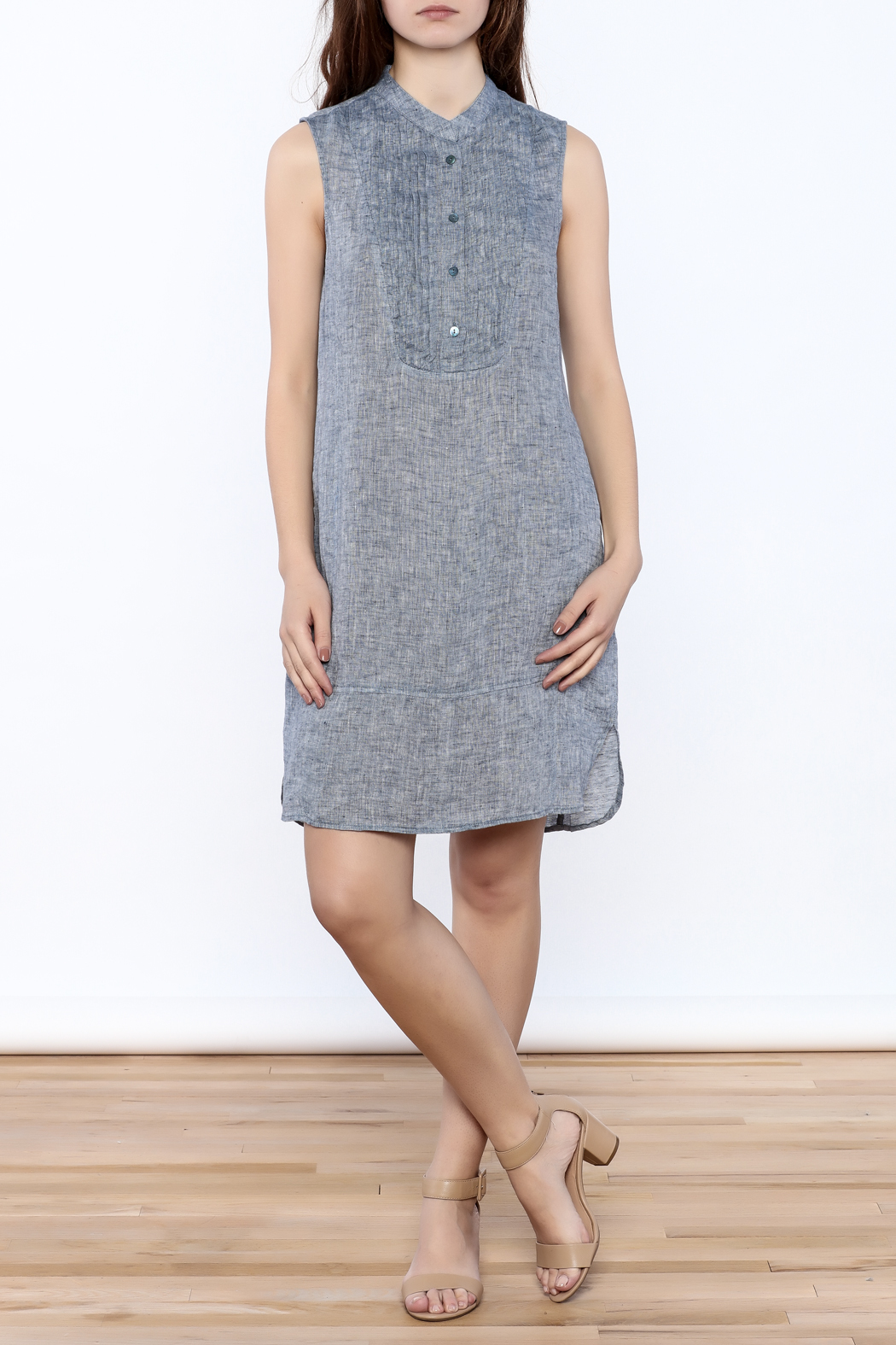 Nic + Zoe Sleeveless Linen Dress - Front Full Image