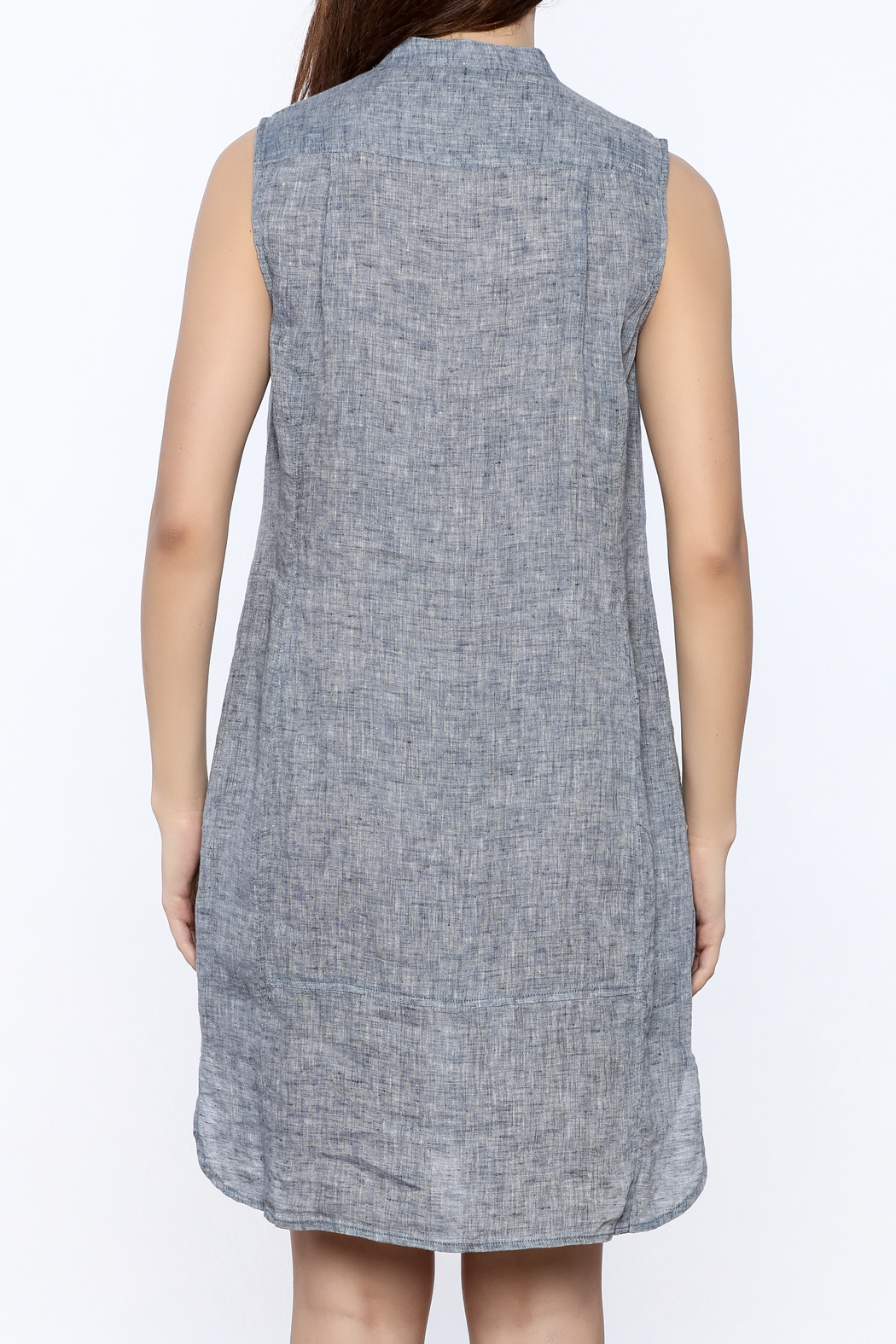 Nic + Zoe Sleeveless Linen Dress - Back Cropped Image