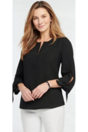 Nic + Zoe  Drama Tie Blouse - Product Mini Image