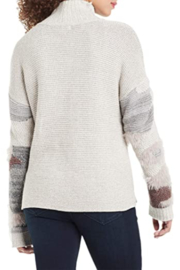Nic + Zoe  Fluffy Florals Sweater - Grey Multi - Product Mini Image