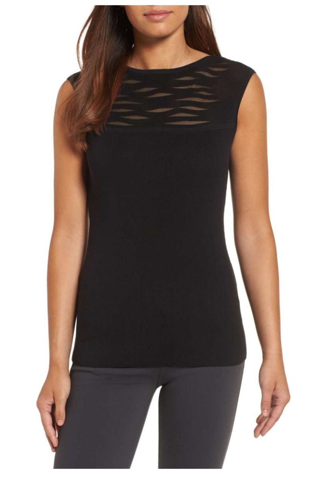 Nic + Zoe Aurora Sweater Tank Top - Front Cropped Image