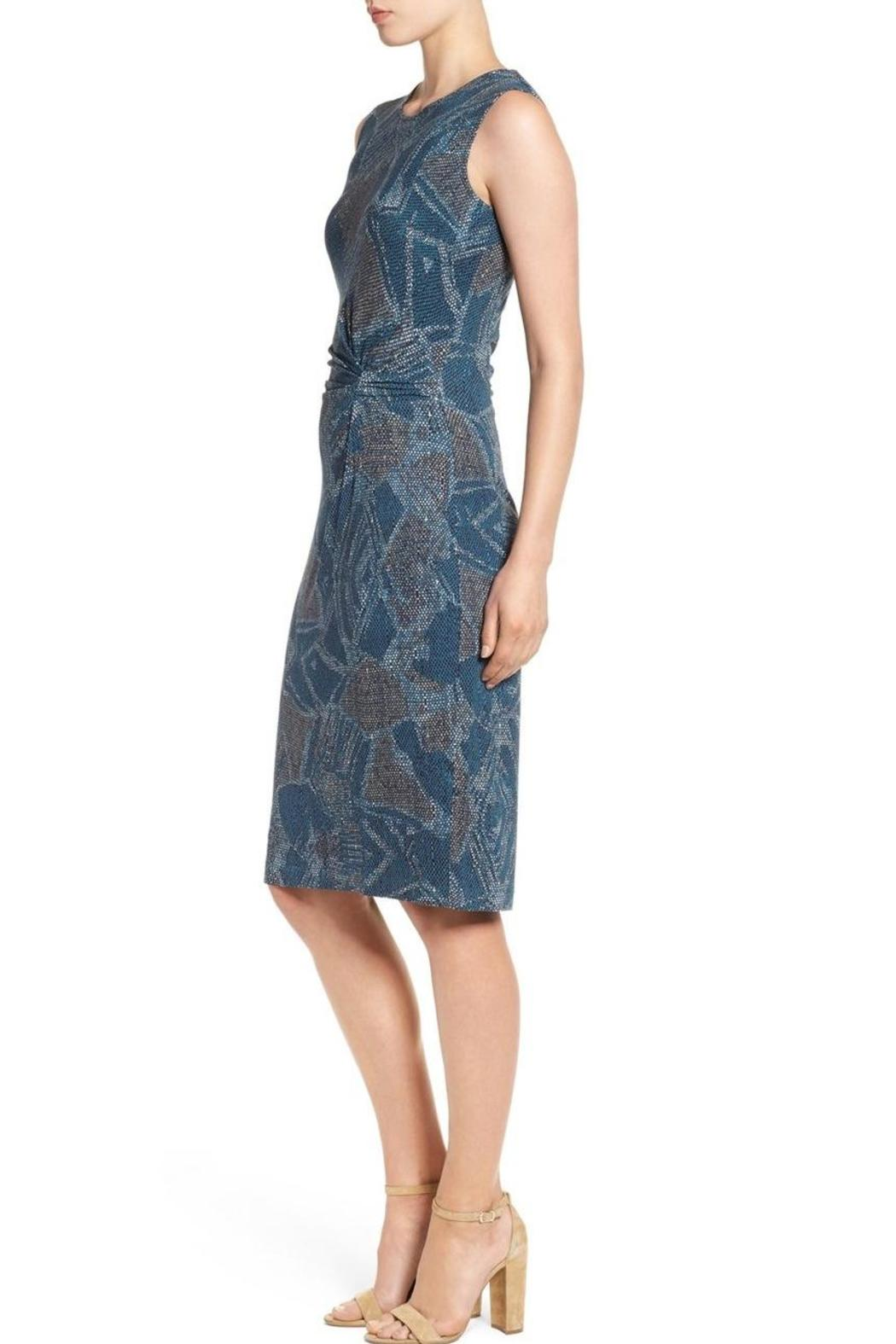 Nic + Zoe Blue Twist Dress - Back Cropped Image