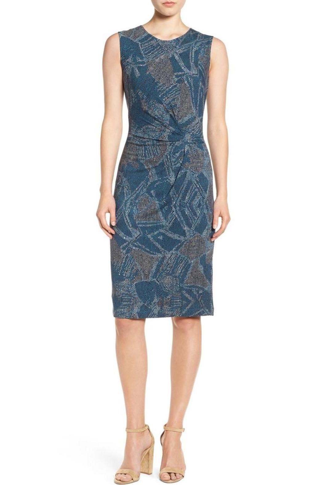 Nic + Zoe Blue Twist Dress - Front Cropped Image