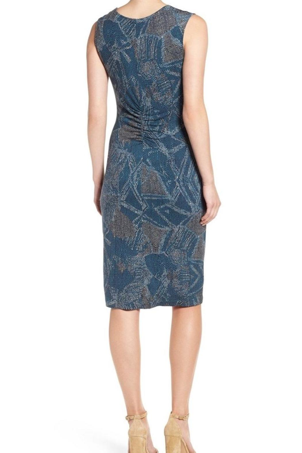 Nic + Zoe Blue Twist Dress - Front Full Image