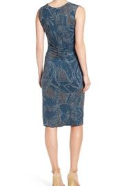 Nic + Zoe Blue Twist Dress - Front full body