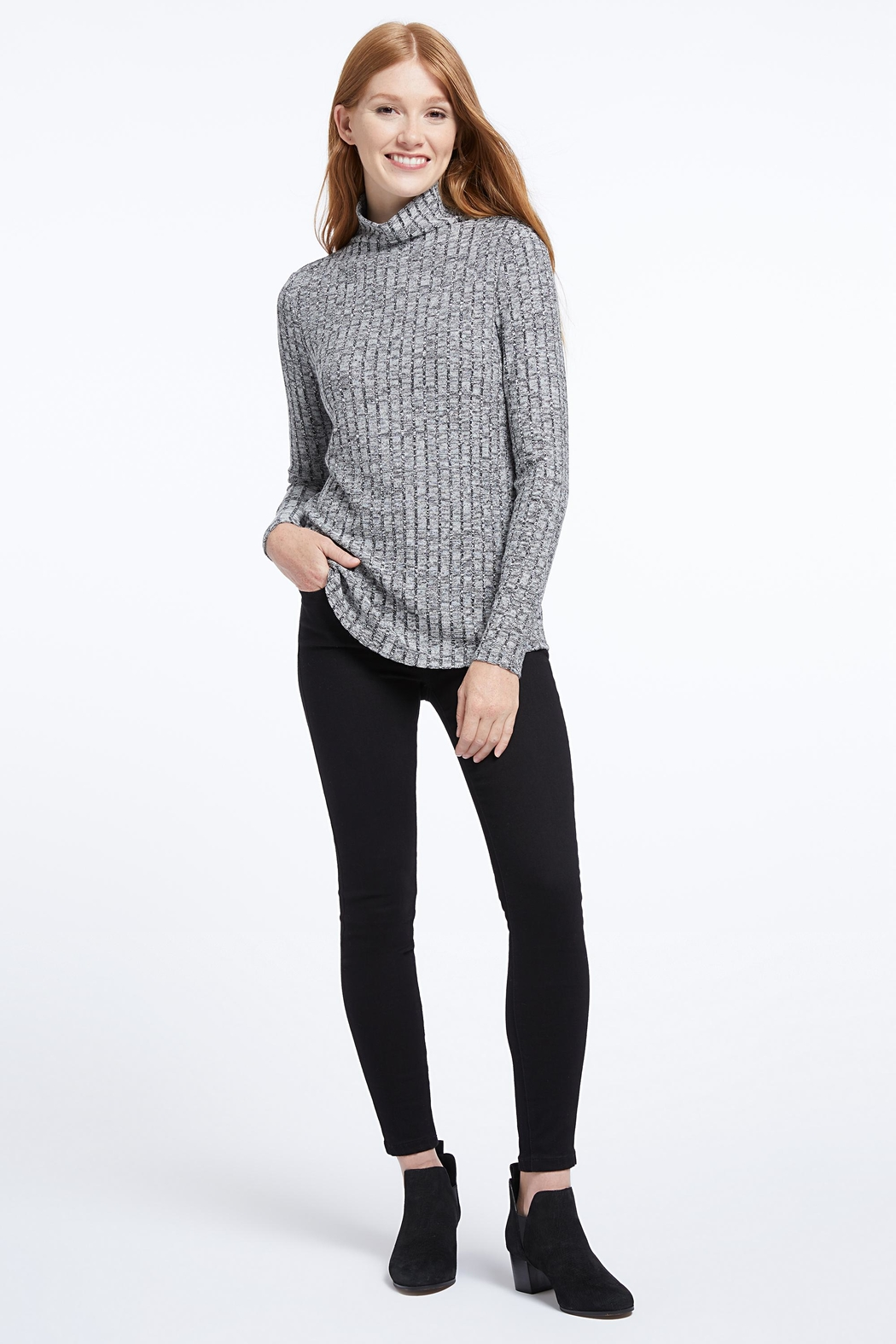 Nic + Zoe Champion Turtleneck Tee - Front Cropped Image