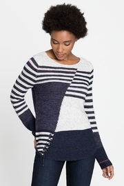 Nic + Zoe Multi Stripe Top - Product Mini Image