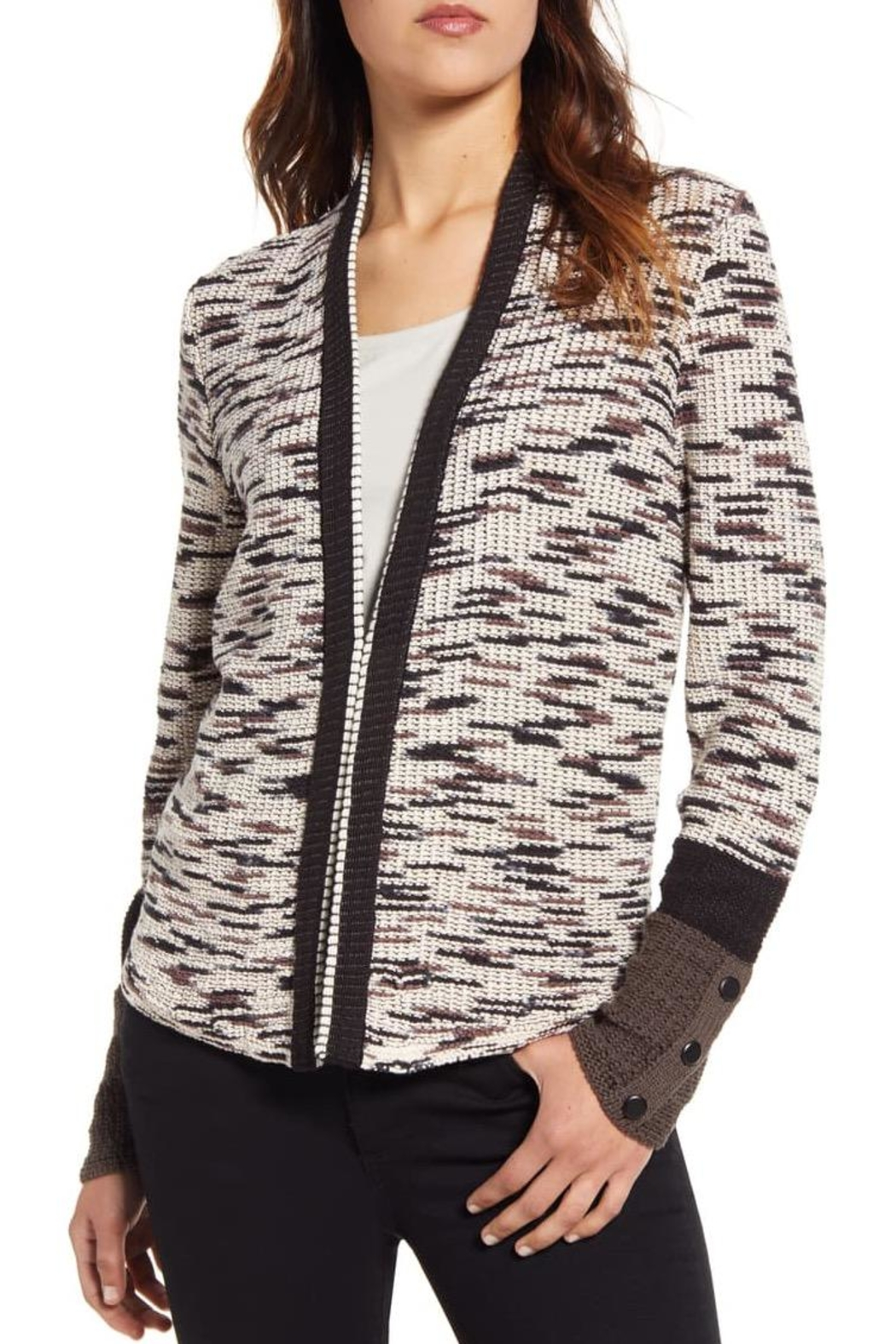 Nic + Zoe Contempory Cotton-Blend Cardigan - Main Image