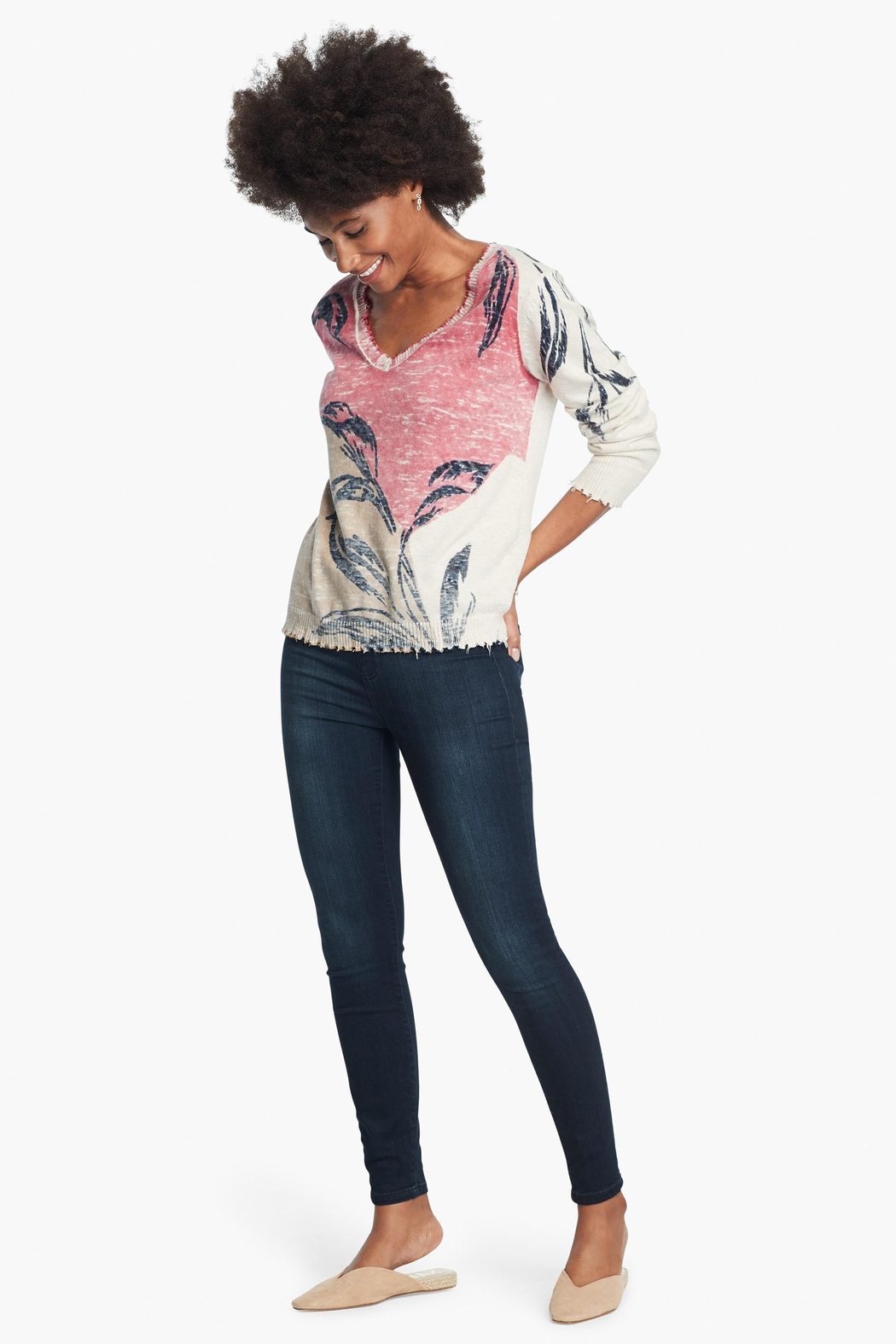 Nic + Zoe Easy Day Sweater - Back Cropped Image