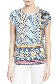 Nic + Zoe Geo Storm Top - Front cropped