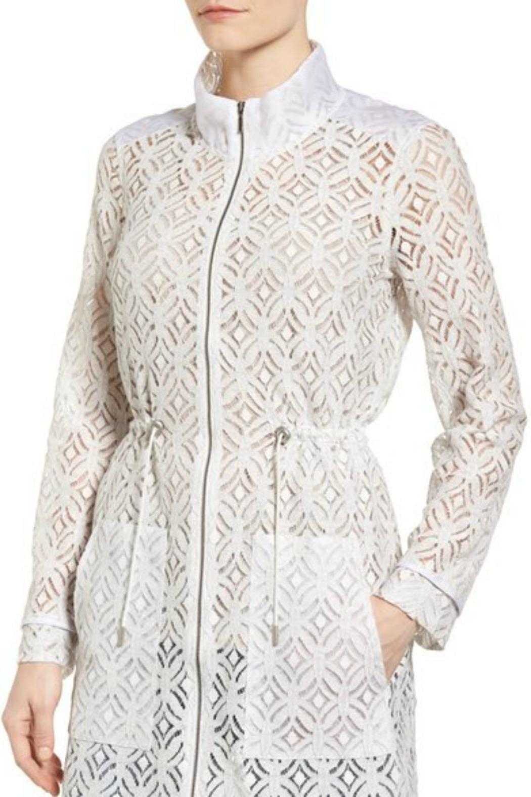 Nic + Zoe Lush Lace Trench - Side Cropped Image
