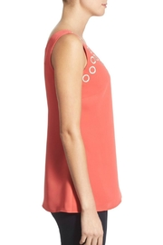 Nic + Zoe Coral Monarch Top - Front full body