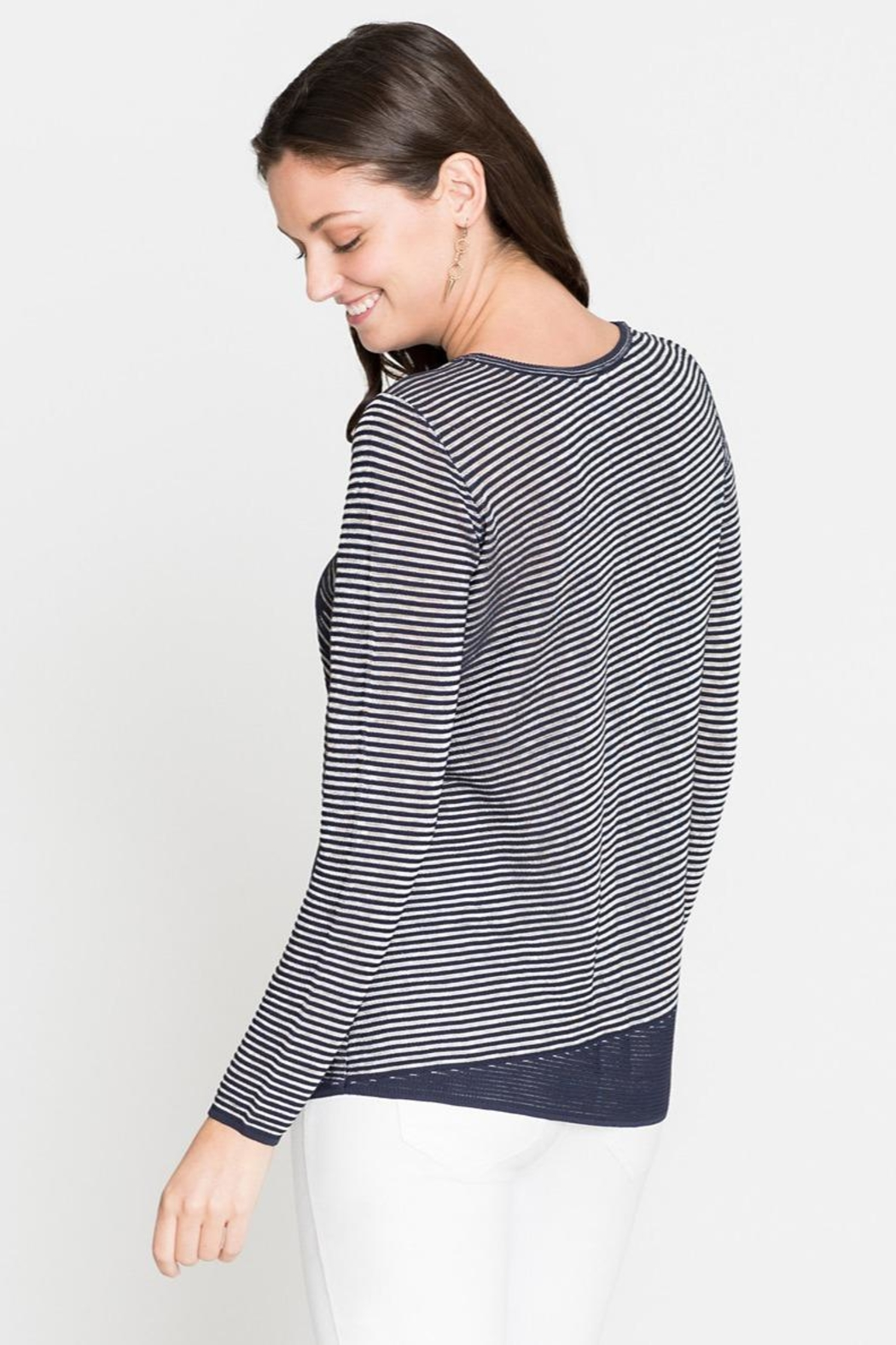 Nic + Zoe Striped Knit Tunic - Side Cropped Image