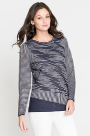 Nic + Zoe Striped Knit Tunic - Front full body