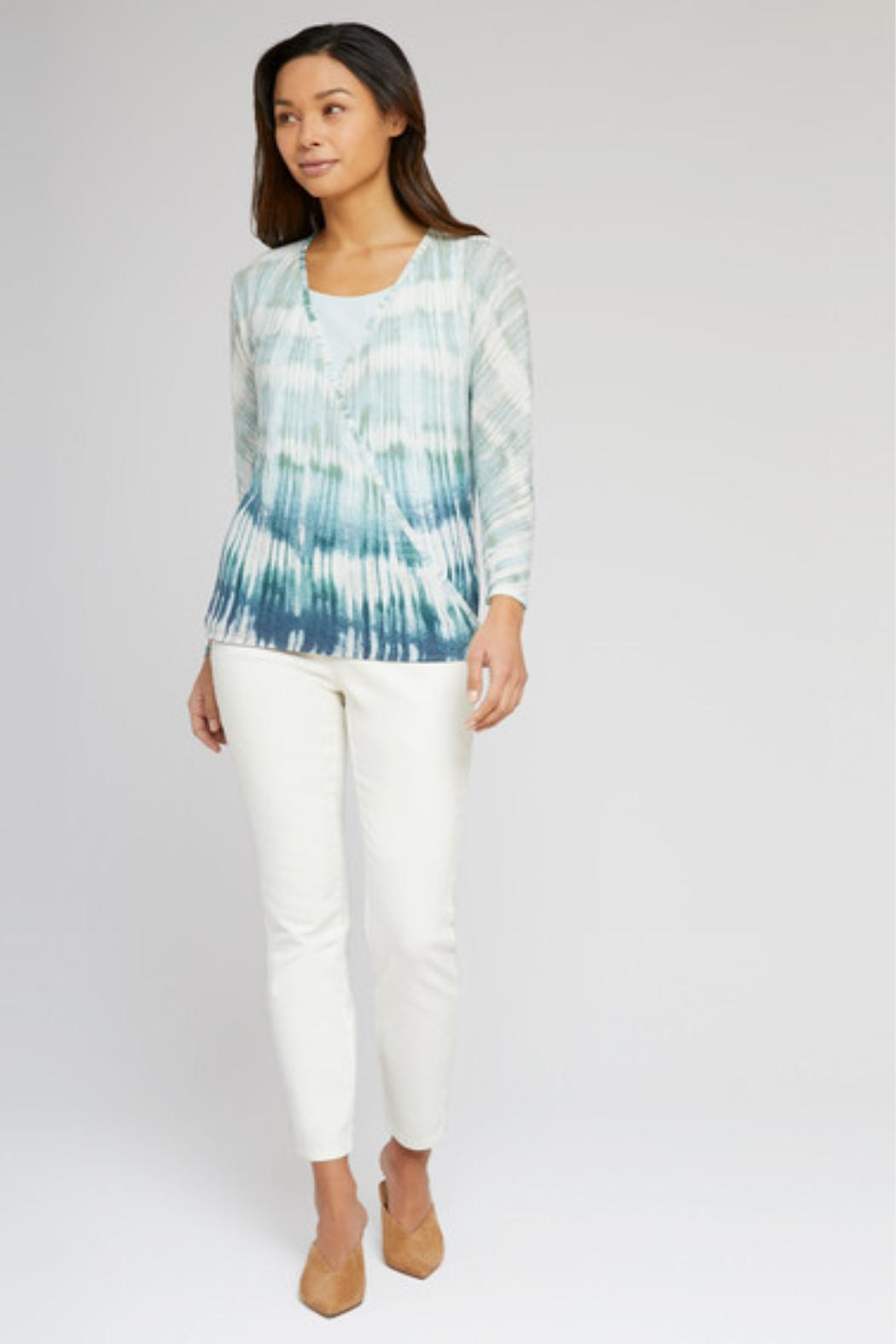 Nic + Zoe Ombre 4-Way Cardigan - Side Cropped Image