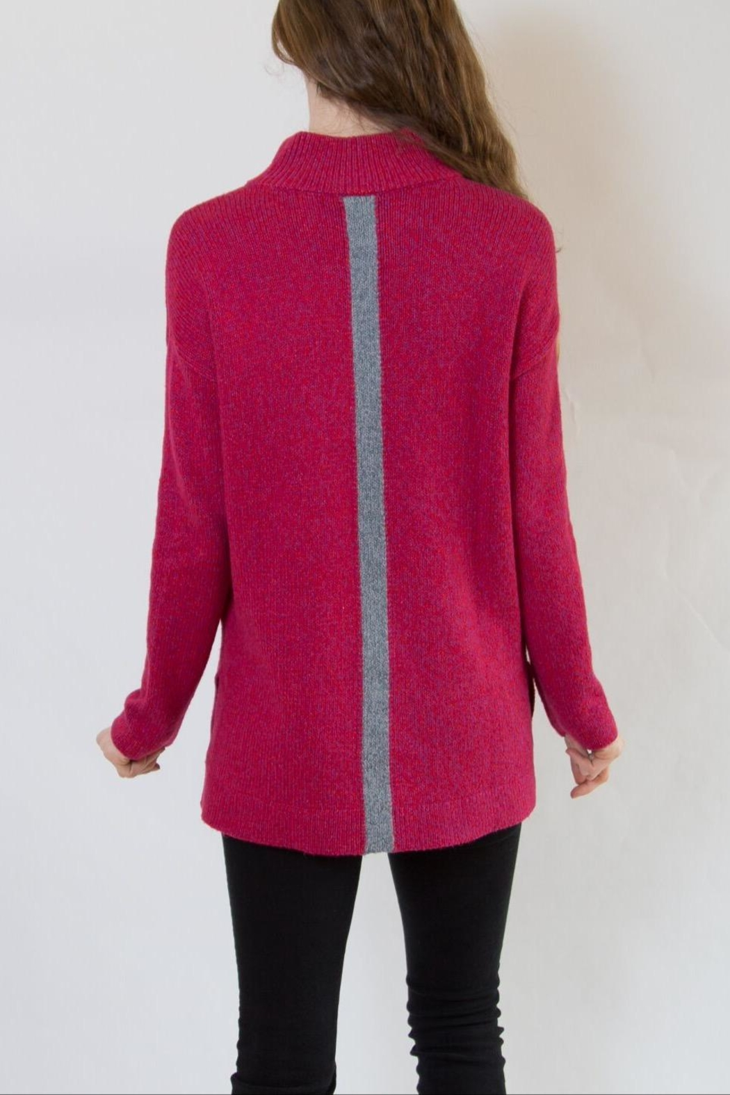 Nic + Zoe Pink Sweater - Side Cropped Image