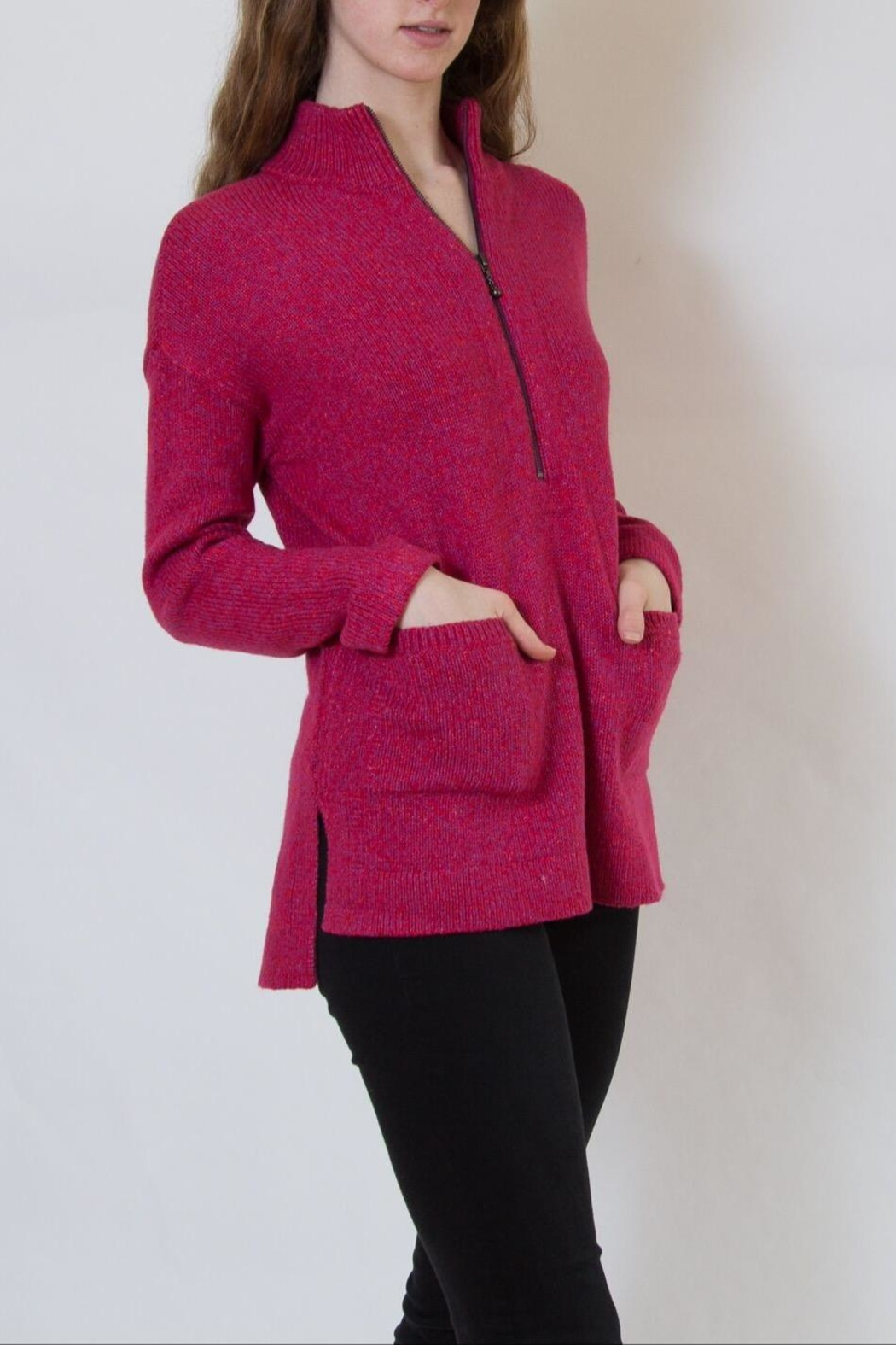 Nic + Zoe Pink Sweater - Front Full Image