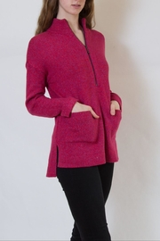 Nic + Zoe Pink Sweater - Front full body
