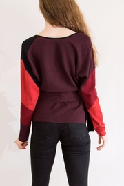 Nic + Zoe Red & Orange Sweater - Side cropped