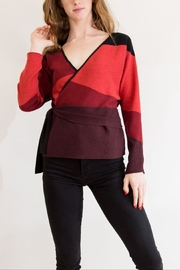 Nic + Zoe Red & Orange Sweater - Front cropped