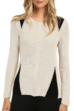 Nic + Zoe Stitched Knit Top - Product List Image
