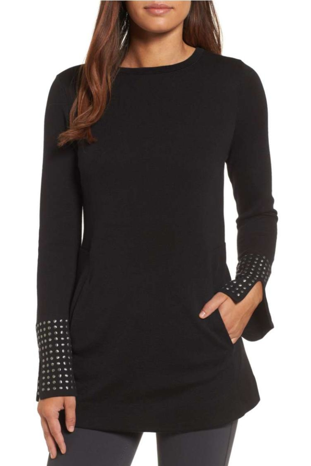 Nic + Zoe Stud Cuff Top - Front Cropped Image