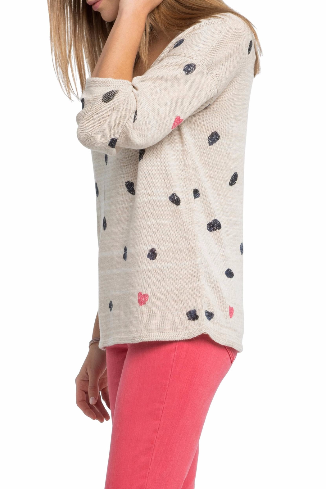 Nic + Zoe Sweetheart Dot Sweater - Front Full Image