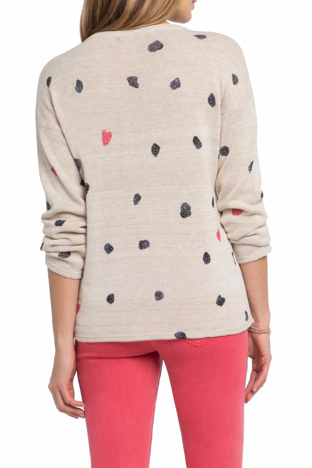Nic + Zoe Sweetheart Dot Sweater - Side Cropped Image