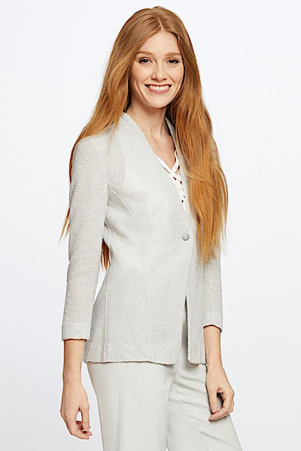 Nic + Zoe Knit  Jacket - Back Cropped Image